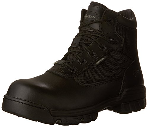 Sport Composite Toe Side Zip - Bates Men's Enforcer 5 Inch SZ Leather Nylon SEMC Uniform Work Boot, Black, 10 M US