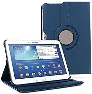 "360 Degree Rotating Case Stand Cover For Samsung Galaxy Tab 4 10.1"" Tablet Dark Blue"