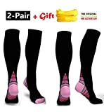 (2Pair) Compression Socks Graduated Athletic Fit for Men - Best Reviews Guide