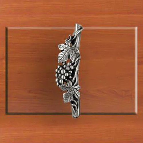 Pulls Grape Drawer - Home Accents Grape Shaped Decorative Cabinet Hardware Drawer/Desk Handle, Left Vertical Pull, Chrome