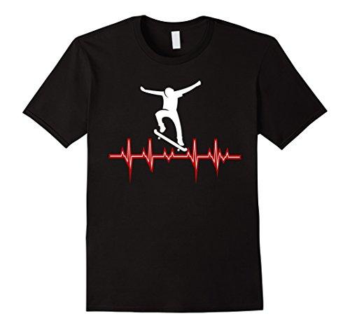 HEARTBEAT T-shirts - Live to Skateboard Love Skateboarding