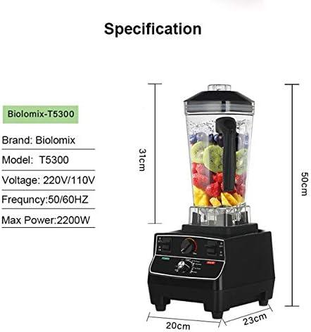 XY-M Petit Mixeur,BPA sans BPA 2L Jar 2200W Minuterie Intelligente Professionnelle Préprogrammée Mélangeur Mélangeur Presse-Agrumes Robot Culinaire Glace Smoothies Broyeur