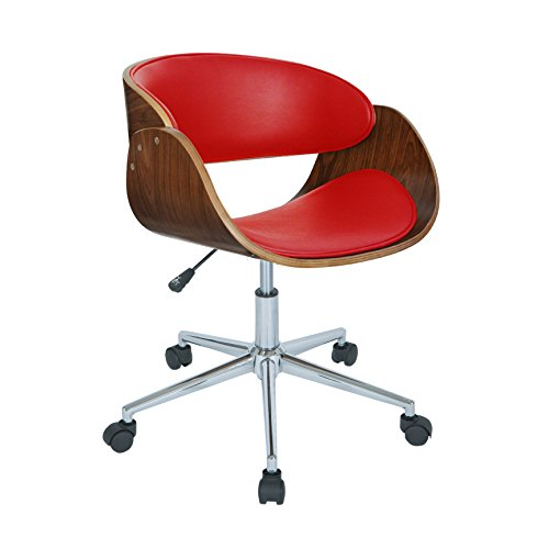 Modern Home Office (Porthos Home Monroe Adjustable Office Chair, Red)
