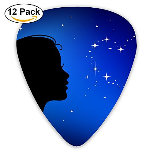 Pisces Love Lessons Horoscope 12 Pack Unique Guitar Gift For Electric Guitar,acoustic Guitar,mandolin,and Bass Celluloid Picks (Pisces Horoscopes Love)