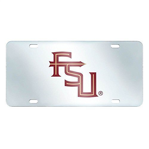 FANMATS NCAA Florida State University Seminoles Plastic License Plate (Inlaid)