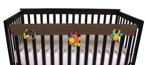 Leachco Easy Teether Soft & Padded Crib Rail Cover, Brown by Leachco