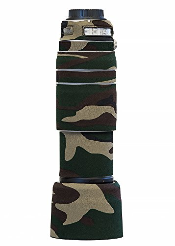 LensCoat Lens Cover for Canon 100-400 is II Camouflage Neoprene Camera Lens Protection (Forest Green Camo) lenscoat
