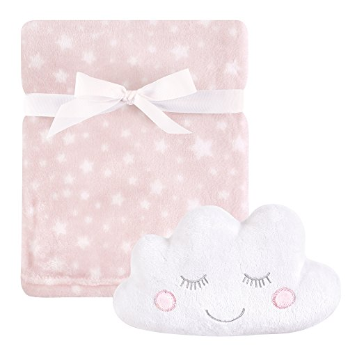 Hudson Baby Unisex Baby Plush Blanket with Toy, Pink Cloud 2 Piece, One -