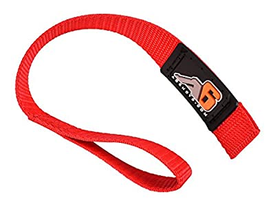 Agency 6 Hook/Winch Pull Strap - RED - 1 INCH Wide