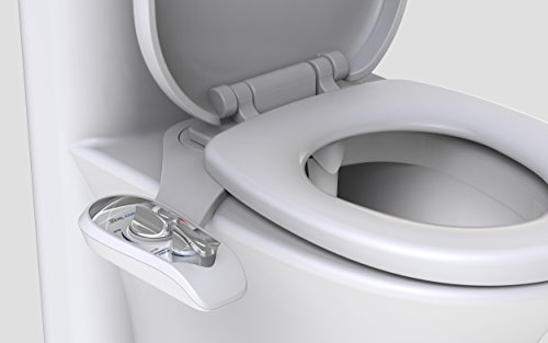 Bidet attachments by Superior Bidet, the leader in washlets for toilets | Easy to install, fresh water, self cleaning white non electric adjustable dual nozzle Standard toilet bidet