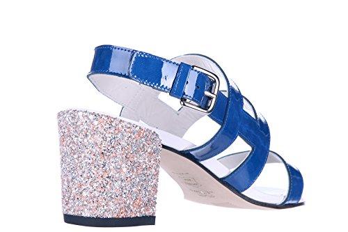 Stuart Weitzman sandalias de tacón mujer en piel nuevo glitter blu