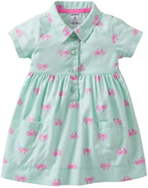 Baby Girls' Spring Into Pink Print Dress & Diaper Cover Set