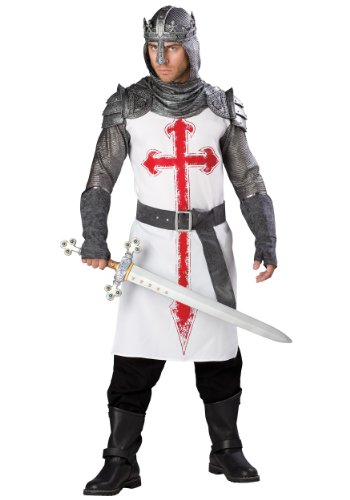 InCharacter Men's Crusader Costume, White/Gray, X-Large by Fun ()