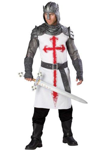InCharacter Men's Crusader Costume, White/Gray, X-Large by Fun World