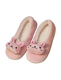Bunny Slippers Fleece Ballerina House Clog Panda Soft Animal US8-10