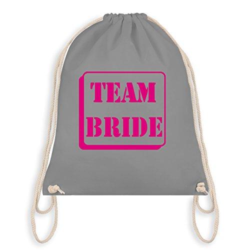 Shirtracer JGA Junggesellinnenabschied - Team Bride - Turnbeutel I Gym Bag Hellgrau NLWOhmkuH