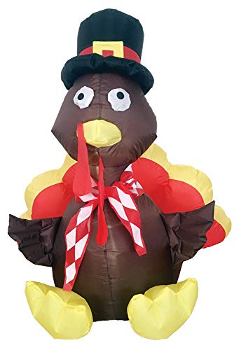 Inflatable Turkey Thanksgiving Theme Party Airblown Holiday Decoration]()