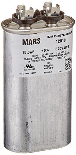 MARS - Motors & Armatures 12010 Motor Run Capacitor 15 MFD 370V OVAL ()