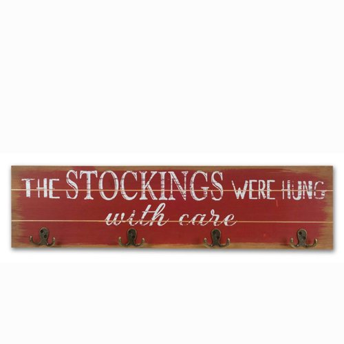 Melrose International Stockings were Hung Wall Hook Rack Red