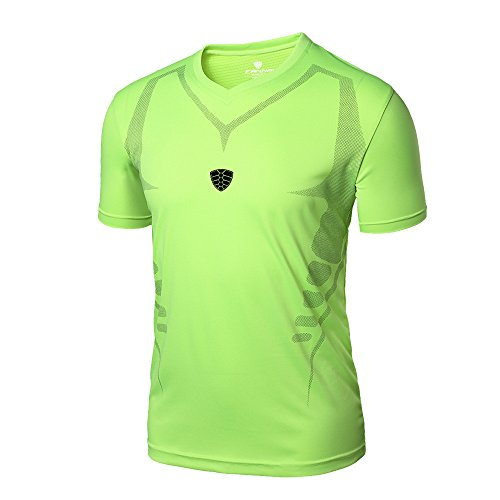 (NEEKEY Mens T Shirts Man Workout Leggings Fitness Sports Gym Running Yoga Athletic Shirt Top Blouse(XS,Green))