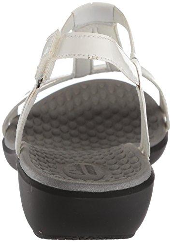 Clarks Women's Sonar Aster Sandal White Synthetic Patent qdBRov