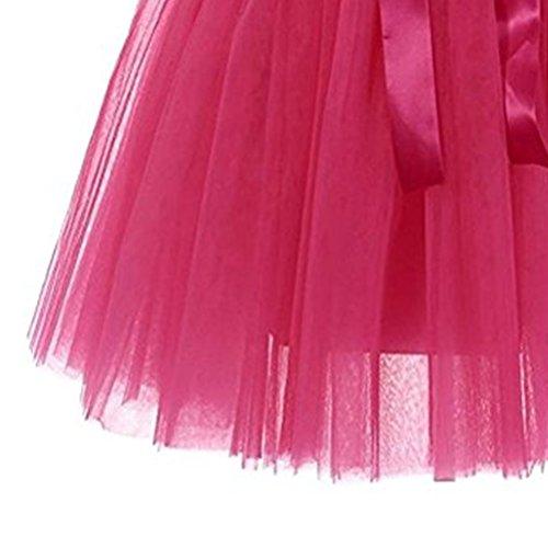 Tutu Ballet En Couleurs Jupe Style Femmes Fuweiencore Tulle Deux Rosé Pour 50 Nœud À Avec Filles Variées Années Courte Boucles E5qwRtxz