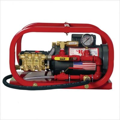 Rice Hydro EL1 Hydrostatic Test Pump, Electric Plunger Pump, 3 gpm Up to 300 psi, Pressure Testing, 1/2 hp
