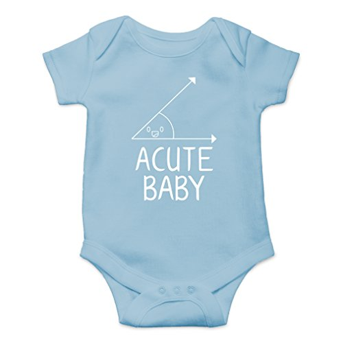 (AW Fashions Acute Baby - Math Lovers Nerd Cute Novelty Funny Infant One-Piece Baby Bodysuit (6 Months, Light Blue) )