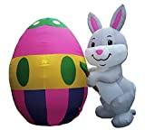 Easter Inflatable 6 Painter Bunny w/ Giant Colored Egg