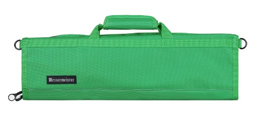 Messermeister 8-Pocket Padded Knife Roll, Kelly (Culinary School Knife Bag)