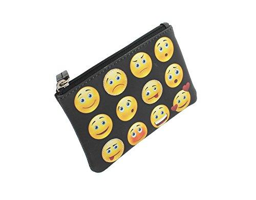 Mala Leder Aufnäher und bedruckte Banktasche Leder 4115_ 11, pinguin (Schwarz) - 4115_11 Lächelnde Gesichter