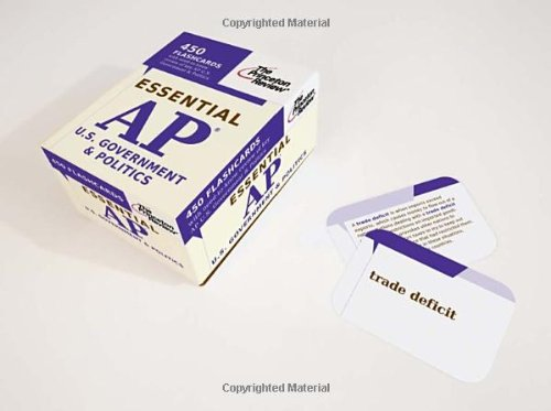 Essential AP U.S. Government & Politics (flashcards) (College Test Preparation)