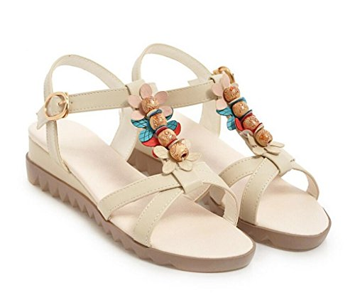 ligeras Beige 41 Beige Mujer De Diarias sandalias 34 Bohemias 36 cómodas Compras Cuentas Sandalias Elegantes 2cm 41 Xie con ZTw6xWPnq