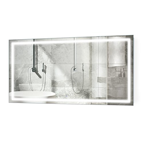 Krugg Large 66 Inch X 36 Inch LED Bathroom Mirror | Lighted -