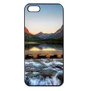CaseSuper Glacier National Park T6 Natures Designs Apple iPhone 5S Seamless Case (Black)