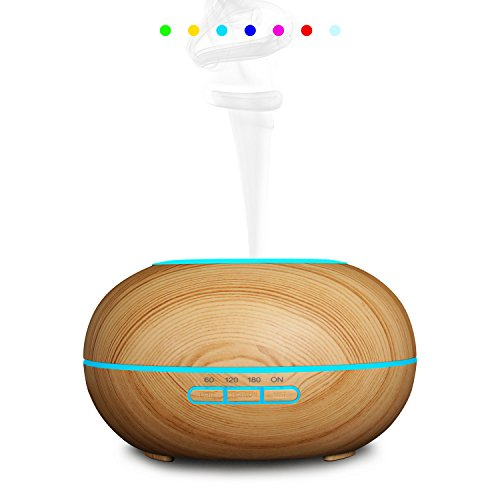 Homipooty 2017 The Latest Essential Oil Diffuser Ultrasonic Cool Mist Diffusers with 7 Color LED Lights Waterless Auto Shut-off,300ml for Home Office Yoga Spa by Homipooty (Image #6)