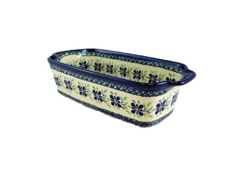 Polish Pottery Rectangular Baker Loaf Pan 9 x 5 x 2.5