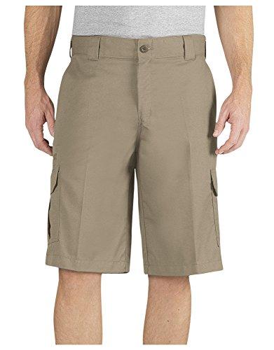 Dickies Big Men's Flex Cargo Work Shorts Khaki Size 52#495D - Shorts Cargo Khaki Light