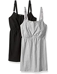Women's Cotton Nursing Tank with Lace Trim and Full Sling