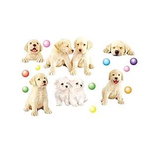 Home Decor Mural Vinyl Wall Sticker Kids Nursery Room Wall Art Fashion Decal Paper Cute Puppy Dog