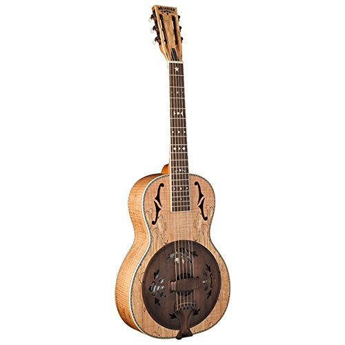 Washburn R360SMK Parlor Resonator Guitar with 1930's Style Inlay Level 1 Satin Natural ()