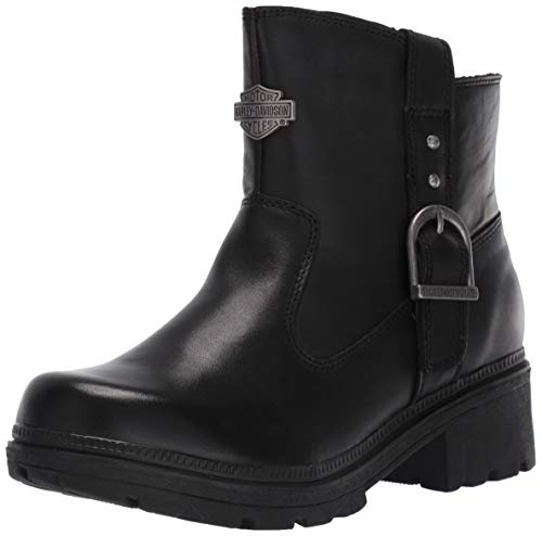 - Harley-Davidson Women's Madera 5-Inch Black Casual Ankle Boots D84406, Black, 08.0 M US