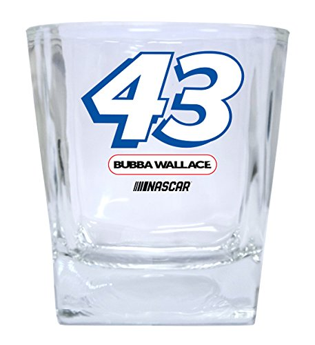 Wallace Glass Print - Bubba Wallace #43 Short Glass Tumbler Set of 2