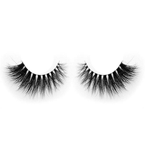 Lunamoon Invisible Transparent Band 3D Mink Fur Fake Eyelashes Women's Makeup False Lashes Hand-made Mink Lash 1 Pair Pack (TD07)