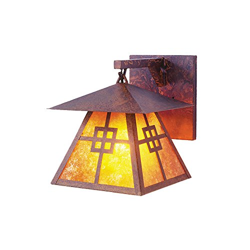 Steel Partners Lighting 2164-R-K Prairie Hanging Sconce with Khaki Lensrust Finish - Prairie Hanging Finish
