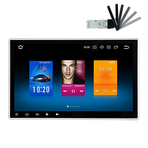 dasaita 10.2'' Android 8.0 Car Stereo Double din Adjustable Screen for Any Vehicle with 2 din / 1din Slot Headunit Touchscreen Navigation Car Radio GPS with Octa Core 4GB Ram ()