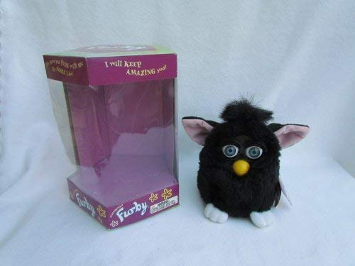 1998 Furby Black with Blue Eyes, Pink Ears and White Feet by Tiger Electronics (Image #2)