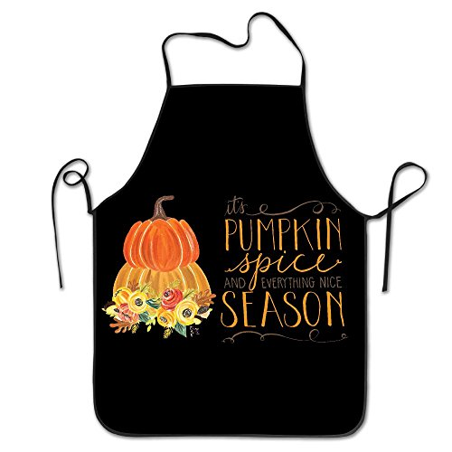Flower Pumpkin Spice Season Unisex Cooking Kitchen Aprons Chef Apron Bib]()