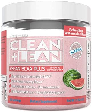 Clean Lean Vegan BCAA Plus by FitFarm USA Ultra-Clean Plant Fermented BCAA s Organic Energy, Diet Support, Phytonutrients,and Antioxidants Fuel and Recharge Body Mind 100 Natural and GMO-Free