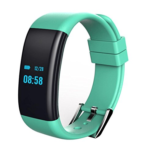Gotd 0.66'' OLED Bluetooth Smart Bracelet Heart Rate Smartwatch For Android And iphone, Green by Goodtrade8